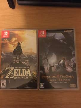 Nintendo switch games for sale or swap