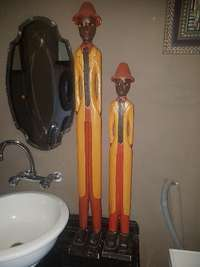 Image of Set of 2 Tall wooden men