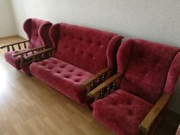 Kącik wypoczynkowy sofa + 2 fotele