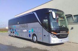 Sprzedaż biletów autobusowych z Chorzowa do Dublina.