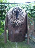 куртка кожаная с мехом
