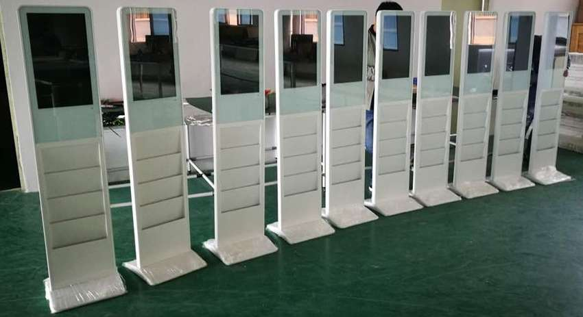kiosk Advertising Stand with shelves 0