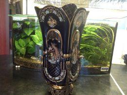 Ваза позолота старинная Porsem кубок филигрань китайский стиль редкая