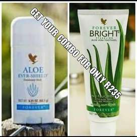 I sell Aloe Shield and forever Bright Toothgel
