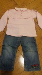Spodnie + bluzka, komplet dziecięcy, spodenki , bluzeczka