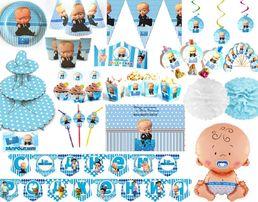 """Декор дня рождения """"Босс Молокосос"""" набор (кенди бар, шары, фотозона)"""