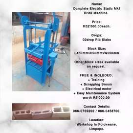 Electric Static Mk1 Brick Machine for RIB SLAB