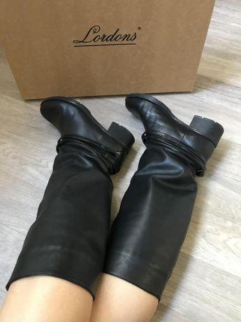 Высокие демисезонные кожаные сапоги с премиум кожи lordans Херсон - изображение 6