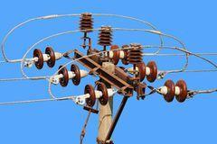 столб электрический трехгранный