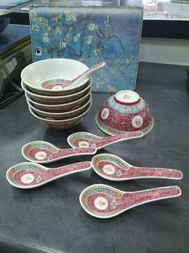 Chinese bowls and spoons