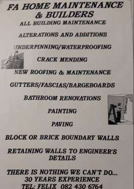 Home maintenance & Building projects