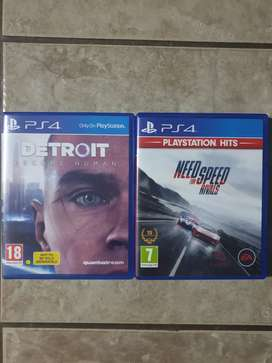 Ps4 games: Detroit Become Human and NFS Rivals