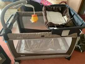Angel care sensor monitor plus chicco lullaby camper cot