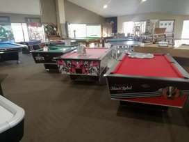 Pool Tables, soccer tables, arcade games, juke boxes and table tennis.