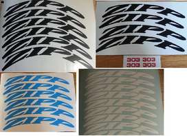 ZIPP bicycle rim decals stickers / vinyl cut graphics