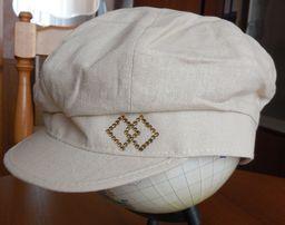 Летняя женская кепка (лён, авторская работа)