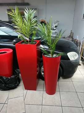 Red pots sale with trees