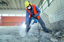 Профессиональный демонтаж всего. Усиление несущего проёма. Режем бетон