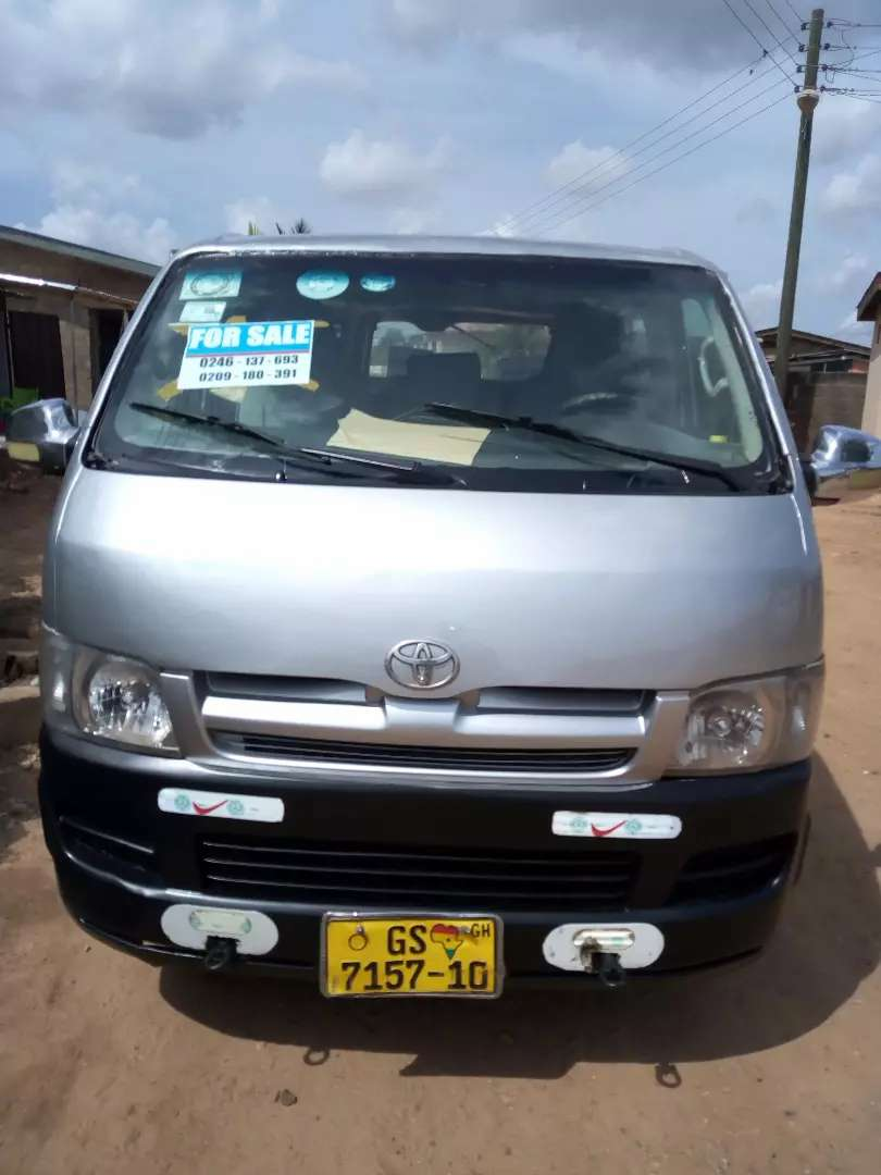 Slightly used Toyota hiace for sell 0