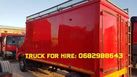 Bakkie/Truck for hire with a driver
