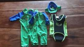 6-12m baby sun-safe swimsuits and wetsuit