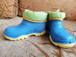 Резиновые ботинки с утеплителем р. 24-25