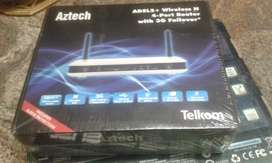 New Sealed Telecom Aztech 3G Wifi/4 port /Surge Protection 300mbps
