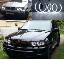 CCFL E53 кольца для е53 кузова X5 BMW яркие белые ангельские глазки х5