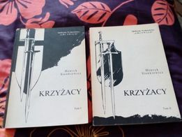 Książka ,,Krzyżacy''. Tom I i Tom II. Autor Henryk Sienkiewicz.