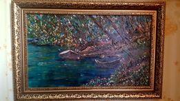 """""""Перед грозой""""Картина написана маслом.В Багете размер картины 30-50"""
