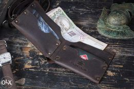 Кожаный бумажник кошелек HANDCRAFT One портмоне мужской