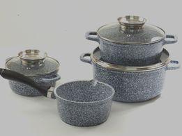 Komplet Garnki Ceramiczne granitowe INDUKCJA 7656