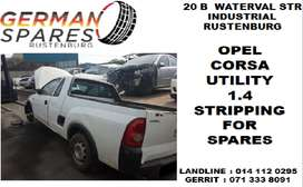 Opel Corsa Utility 1.4 stripping for spares