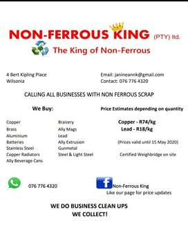 We buy Non Ferrous from businesses