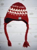 The NORTH FACE czapka uszatka na polarze logowana ciepła zimowa