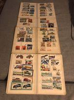 4 klasery ze znaczkami lata 1970-89