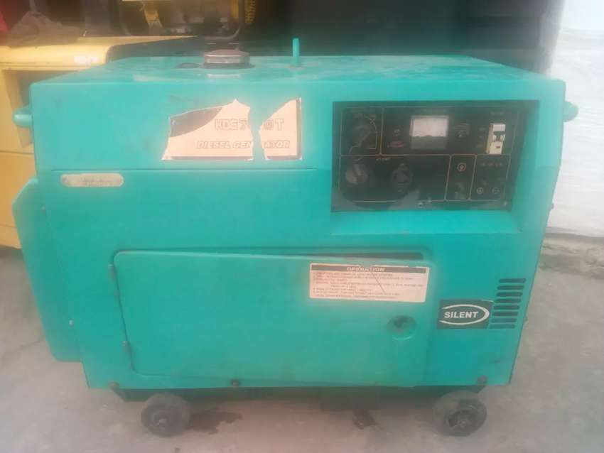 Sound proof Generator, 5KVA , diesel, Very solid and powerful 0