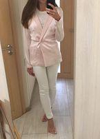 Max Mara оригинал Италия нарядный дизайнерский розовый шелковый пиджак