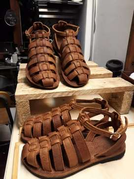 Size 5 6 7 8 brand new genuine leather sandals