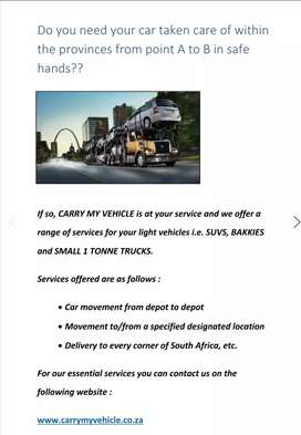 Carry or move your vehicle