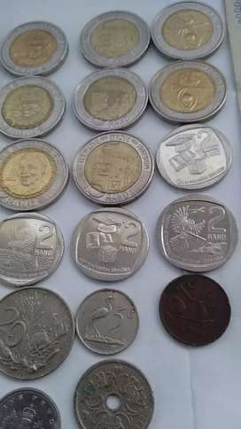 Collectable notes and Mandela coins