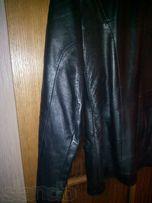 Пиджак кожаный (лайка) чёрный р48 б/у