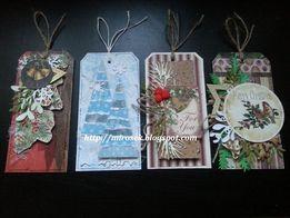 Zakładka do książki ręcznie robiona zakładki świąteczne handmade