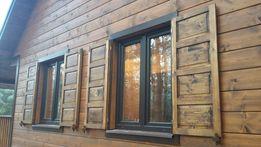 okiennice drewniane okiennica roleta żaluzje