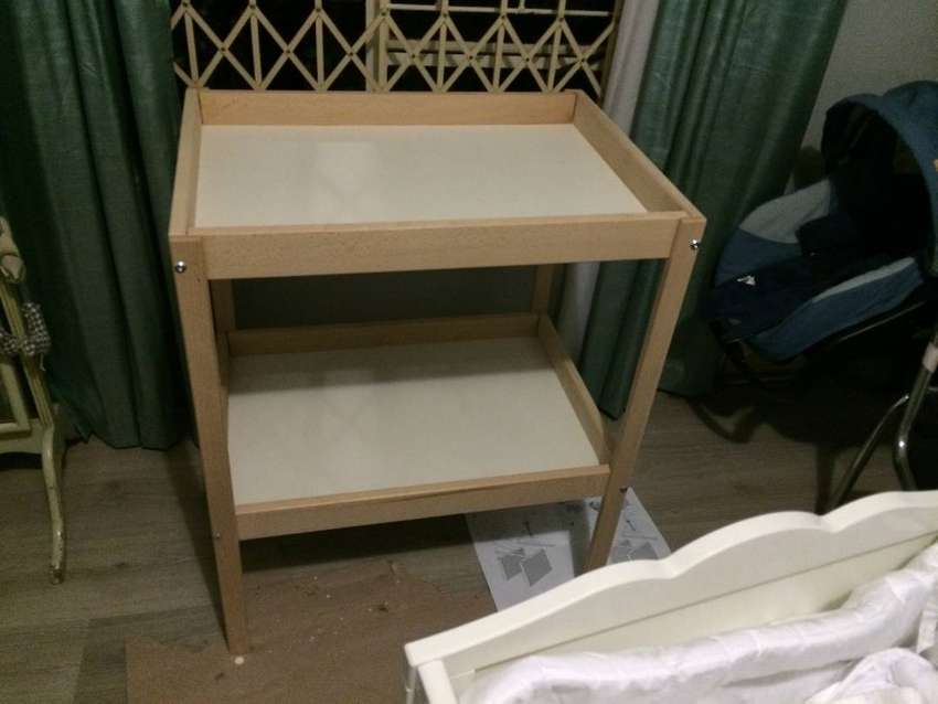 wooden changing table 0