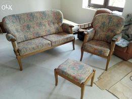 Meble wypoczynkowe zabytkowe fotel podnozek kanapa