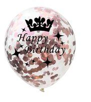 Balon Happy Birthday 18 przeźroczysty z konfetti urodziny prezent 18st