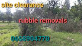 Site clearance and Rubble removals