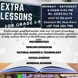 Extra lessons for Grade 1 to 9