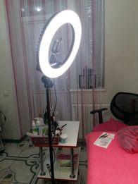 Акция! Суперская Кольцевая LED лампа, мощный кольцевой свет +штатив